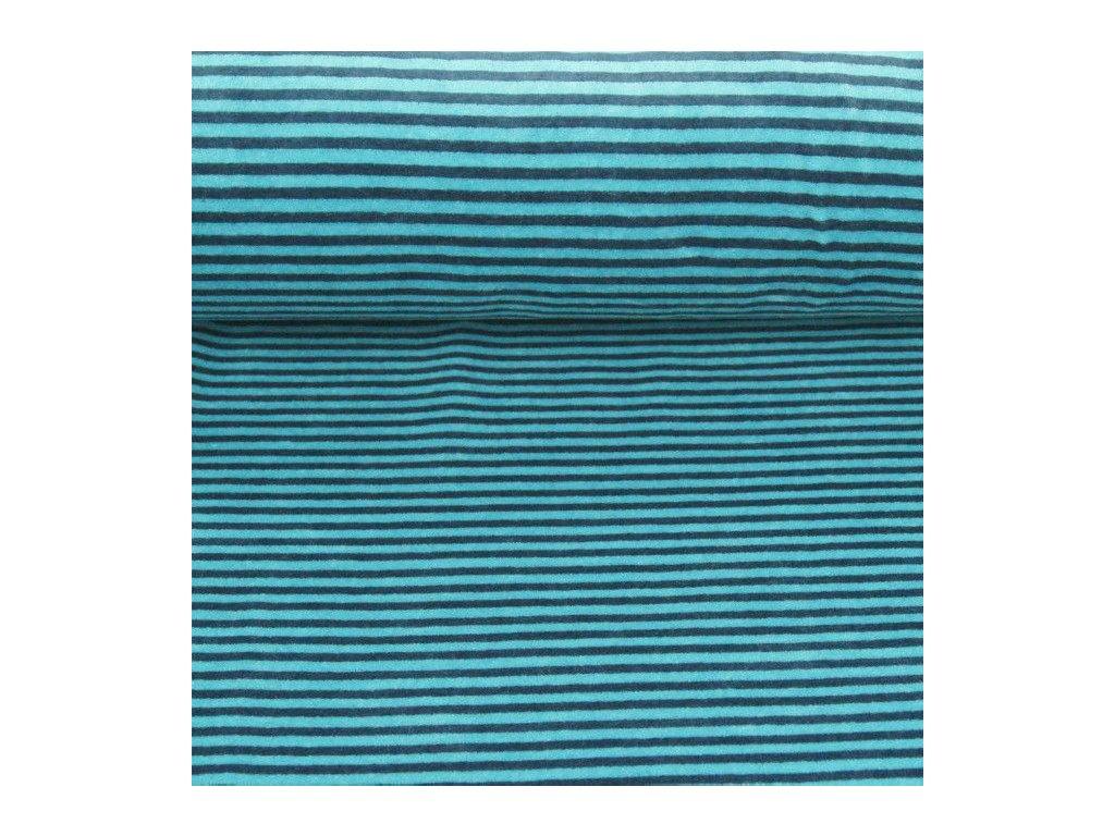 Kojenecký plyš, pruhy s modrou 8-4