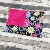 Přebalovací podložka Yháček, kočárkovina, barevné květy na černé