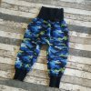 Zimní softshellové kalhotky Yháček, maskáč modrý