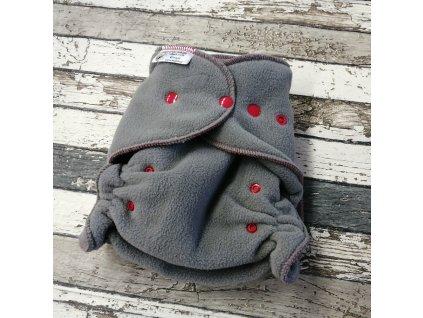Flísové svrchní kalhotky Majab na patentky, šedé