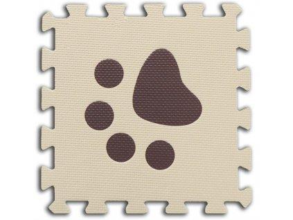 m penove baby puzzle tlapky 1 dil bezovy 17639