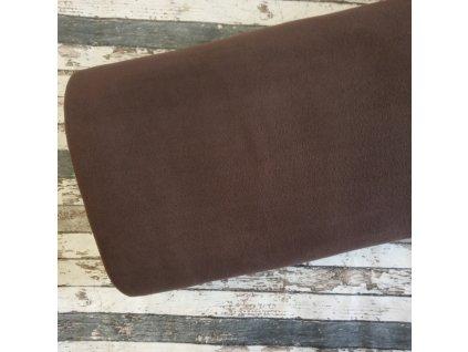 Fleece antipiling, 190 g, tmavě hnědá, 319