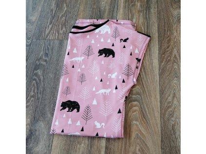 Šaty dámské Yháček, lesní zvěř na starorůžové
