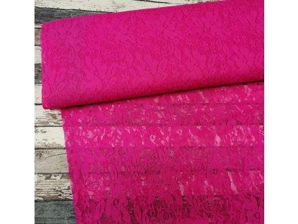 Krajka růžový neon