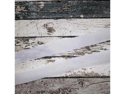 Suchý zip bílý, 25 mm, komplet