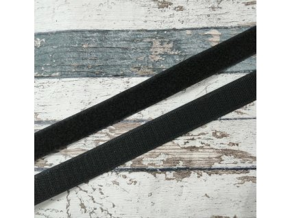 Suchý zip černý, 30 mm, komplet