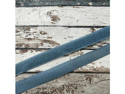 Suchý zip šedý, 20 mm, komplet