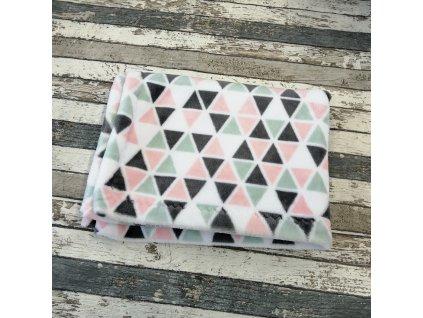 Měkoučká deka Yháček, trojúhelníky