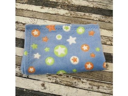 Měkoučká deka Yháček, hvězdičky na modré