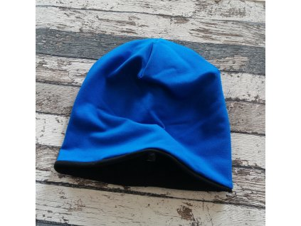Šmoulí čepička Yháček, černá/královsky modrá