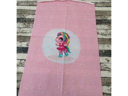 Panel - růžový jednorožec na růžové