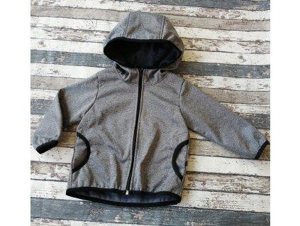 Softshellová bunda Yháček NEW, zimní, šedý melír