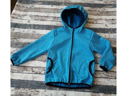 Softshellová bunda Yháček NEW, zimní, tyrkysový melír