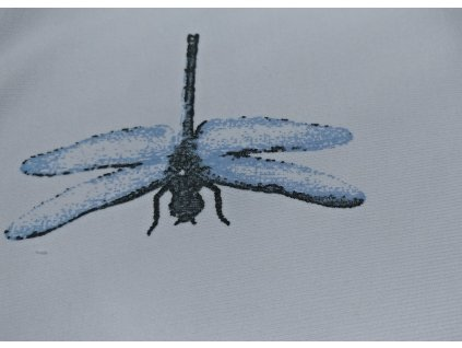 UV Teplákovina, vážky modré na bílé