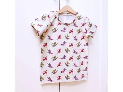 Dětské tričko BASIC krátký rukáv (Velikost velikost 80 - 164)