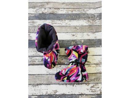 Nosicí botičky - válenky Yháček, graffiti barevné