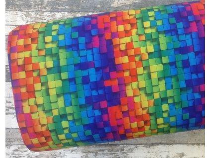 Softshell zimní, 3D čtverečky