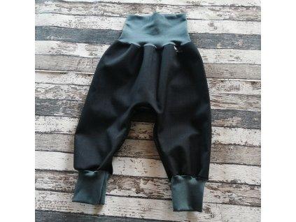 Softshellové kalhoty Yháček, podzim, černá/antracit