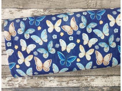 Úplet motýli na džínové