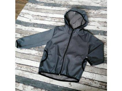 Softshellová bunda Yháček NEW, podzim, světle šedá