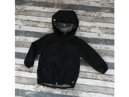 Softshellová bunda Yháček NEW, podzim, černá/černá