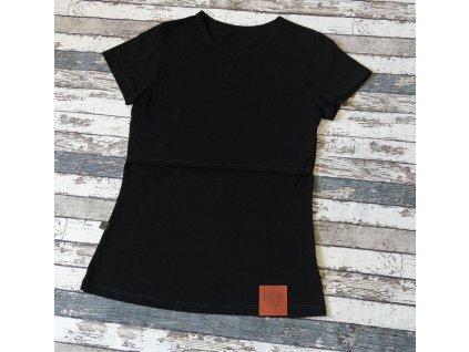 Kojicí tričko Basic Yháček, černé