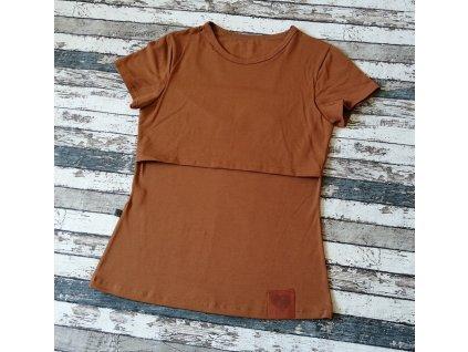Kojicí tričko Basic Yháček, karamelové