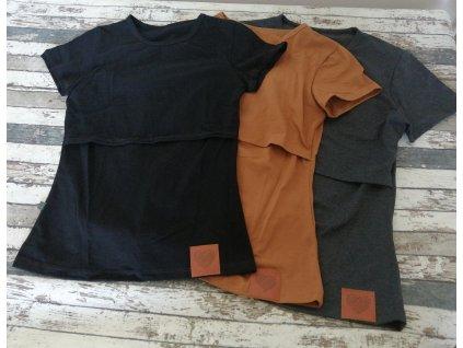 Kojicí tričko Basic Yháček, tmavě šedé melé