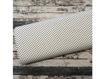 Úplet puntíky drobné, bílá 050, 35 cm