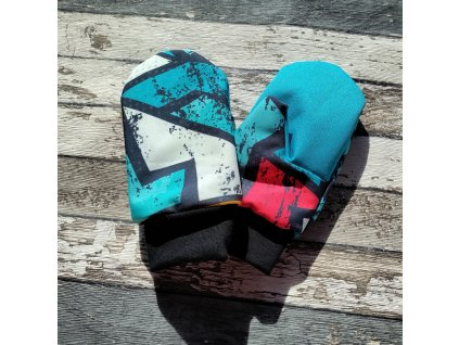 Softshellové rukavice, graffiti, S