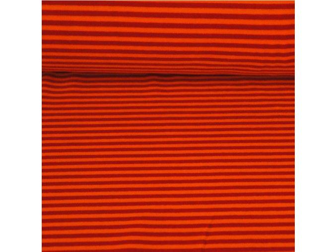 Kojenecký plyš, pruhy s oranžovou 15