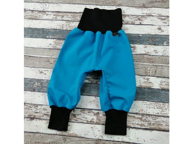 Softshellové kalhoty Yháček, letní, azuro