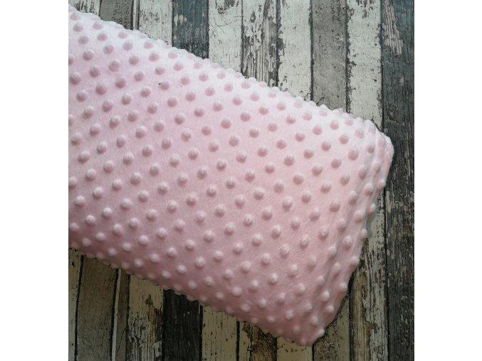 Minky, růžová/puntík 011