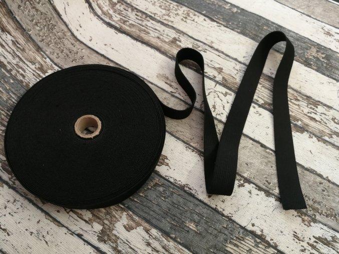 Hladká pruženka 15 mm - černá