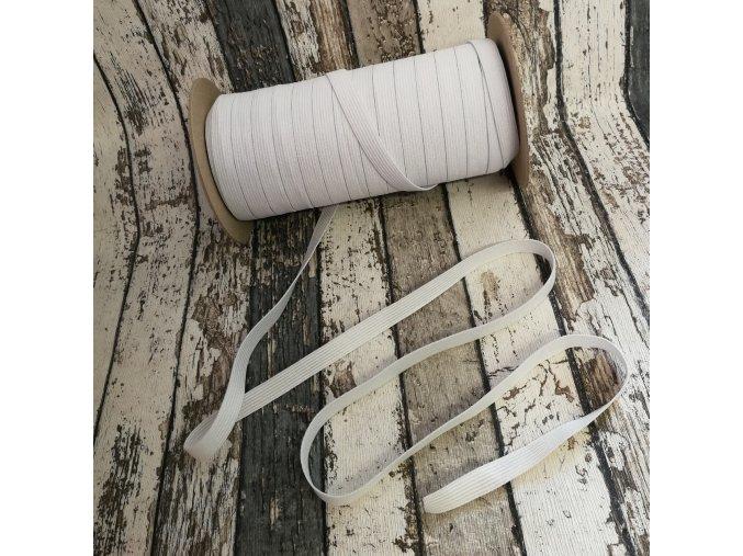 Hladká pruženka 10 mm - bílá