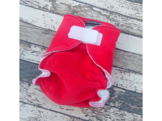 Kalhotková plena na SZ, velurka, červená