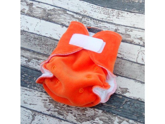 Kalhotková plena na SZ, velurka, oranžová