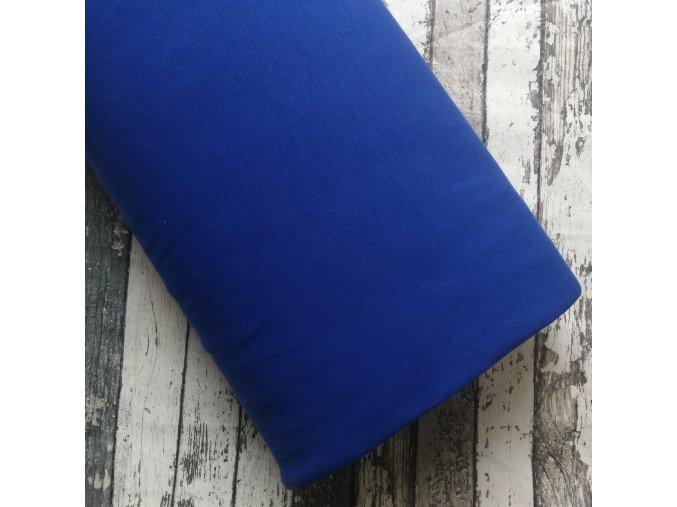 Teplákovina počesaná královsky modrá