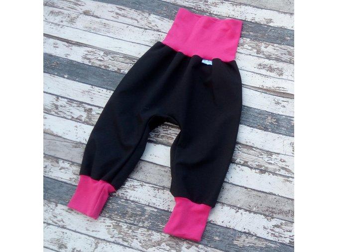Softshellové kalhoty Yháček, zimní, černá/růžová