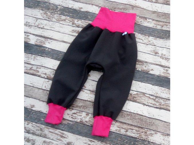Softshellové kalhoty Yháček, zimní, šedá/růžová
