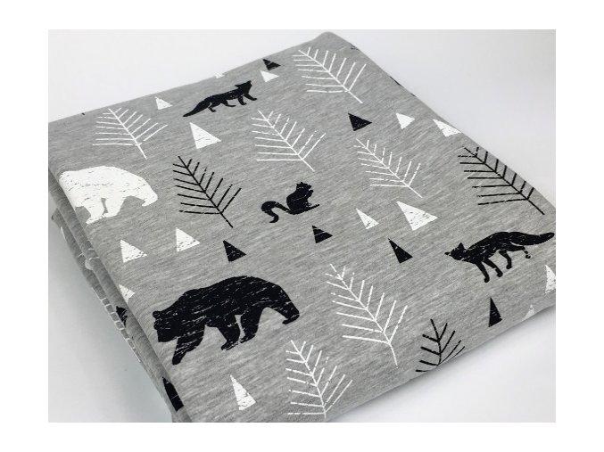 Lesní zvěř na šedé
