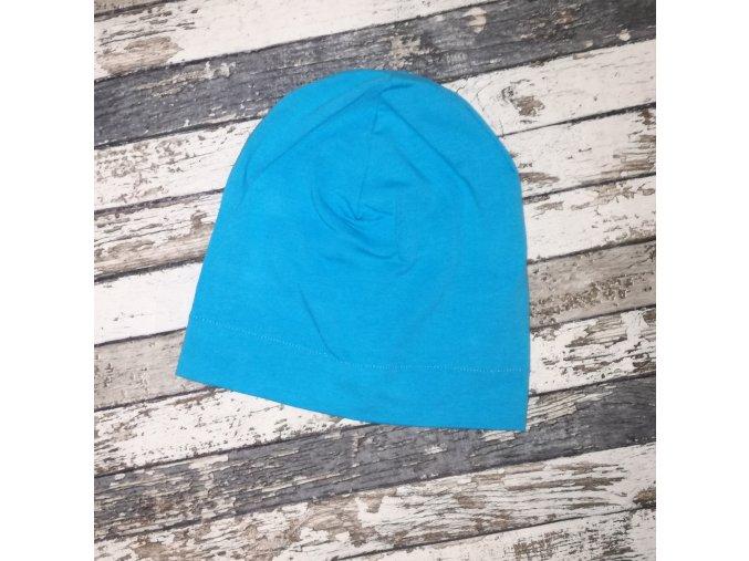 Šmoulí čepička Yháček, jednovrstvá, Modrá