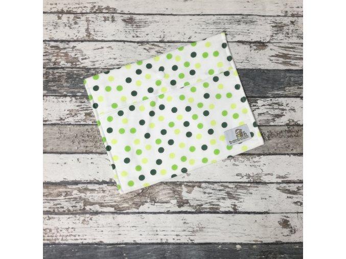Pytlík Bamboolik, XS, zelené puntíky