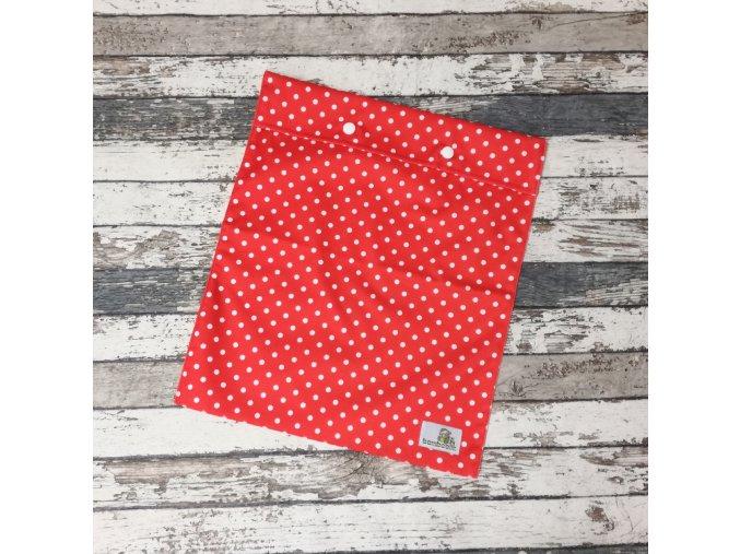 Pytlík Bamboolik, S, bílé puntíky na červené