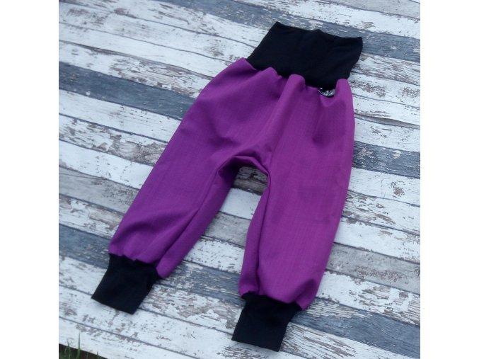 Softshellové kalhoty Yháček, podzim, fialová/černá