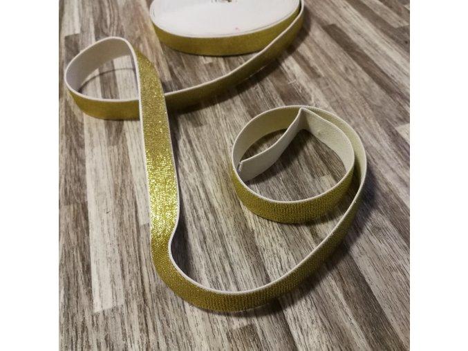 Hladká pruženka 20 mm zlatá