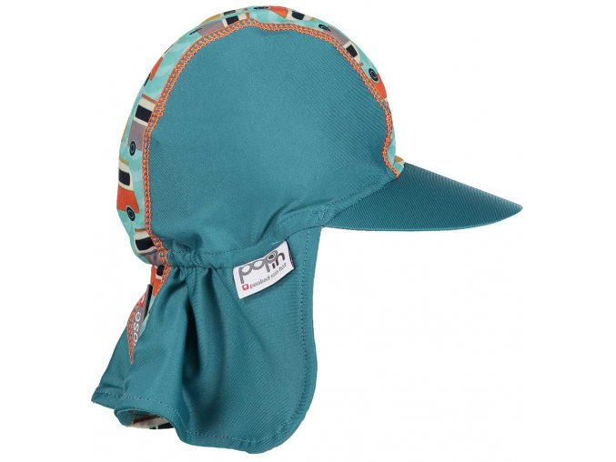 Pop in Peaked Sun Hat Campervan Green Side2