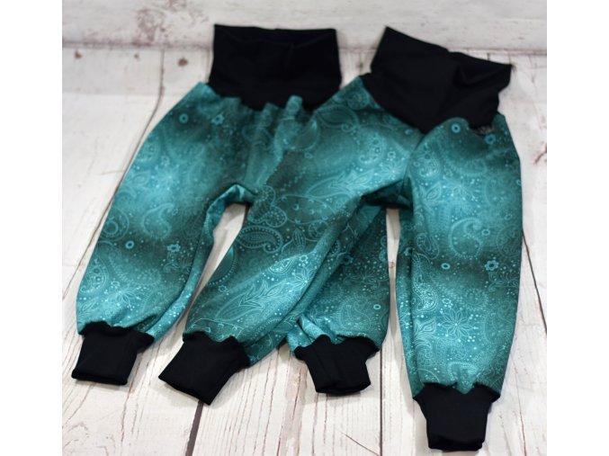 Zimní softshellové kalhotky Yháček, Abstrakce