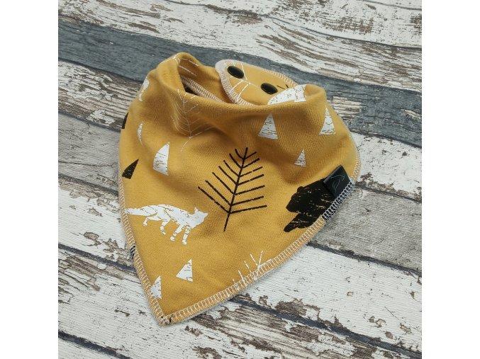Slintáček s nákrčníkem Yháček, lesní zvěř na hořčicové