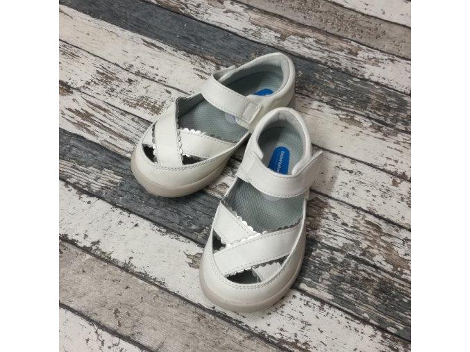 Boty Little blue lamb, White girls sandals